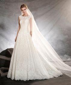 OLIVANA - Vestido de noiva com decote tomara que caia e corte em A