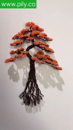 Diy Arts And Crafts, Handmade Crafts, Diy Crafts Hacks, Paper Flowers Craft, Paper Crafts Origami, String Wall Art, Diy Wall Art, Copper Wire Art, Bonsai Wire