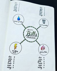 Utility Bills Tracker  I've been wanting to track what our utilities cost month-to-month, and this is what my little brain came up with. I love that at a glance we will be able to see what we pay for some of our bills that change each month. Not that I'll take shorter showers because of it...   #bujojunkies #bujo #bulletjournal #bullet #journaling #journal #tracker #habittracker #habit #bujotracker #planwithme #planwithmechallenge #weightloss #weighttracker #daily #dailydoing #dailytracker…