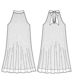Flat Fashion Sketch - Dress 001