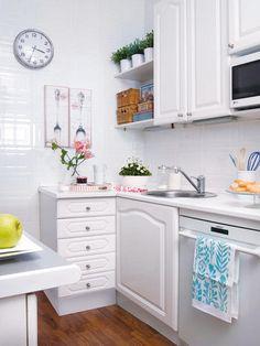 Decoração de Cozinha // Cozinha Pequena // Cozinha Branca