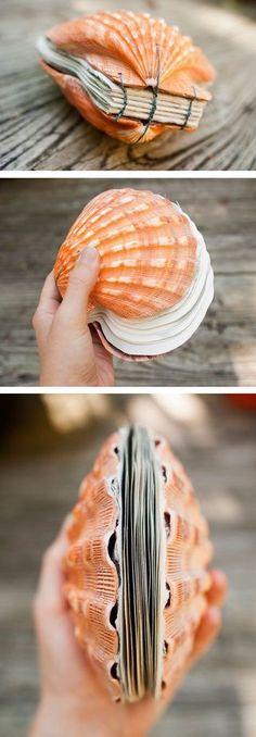 Make a Seashell Bound Book. Make a Seashell Bound Book. Beach Crafts, Fun Crafts, Diy And Crafts, Arts And Crafts, Seashell Crafts Kids, Seashell Art, Diy Album Photo, Photo Book, Scallop Shells