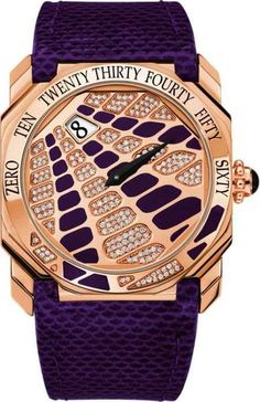 <3 Pin it and win a trip to New York, Barcelona, Berlin, Rome or London. - Gerald Genta's Pink Gold and Purple Masterpiece #watches trendhunter.com