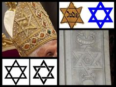 The Pope can wear a Star of David too! This is from www.catholicforum.com. Many works in Christian iconography say that the 6 pointed star is the Creator's Star or Star of Creation. Its 6 points stand for the six days of creation ... The star also appears in decoration in St. Peter's Basilica and many Gothic churches.  Good reading on the website about this.