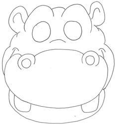 moldes de mascaras de animais 1