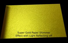 Items similar to Super Gold Metallics Paper from Arjowiggins Digital Metallics Curious Collection or Cover paper for Weddings, Scrapbooking, etc on Etsy Metallic Luster, Metallic Paper, Gold Paper, Paper Manufacturers, Natural Weave, Fine Paper, Paper Weights, Paper Size, Paper Cutting