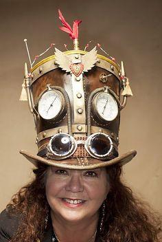 Steampunk custom top hat, Nila by Killbuck.deviantart.com on @deviantART