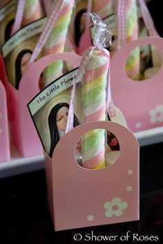 "Shower of Roses: Little Flowers ""Maypole"" Tea Party Favors and Prizes"