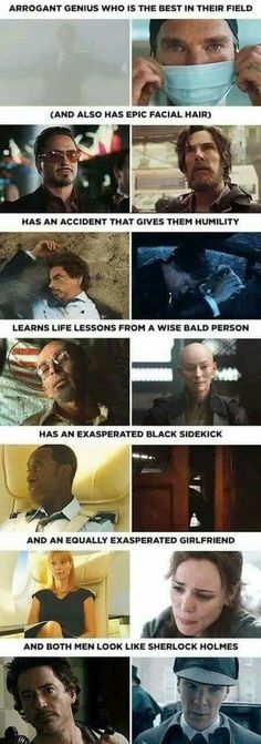 Marvel smilarities between Tony Stark/Iron Man sand Stephen Strange/Dr. Strange