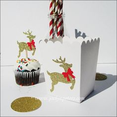 Christmas Reindeer Popcorn Boxes