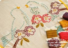 I love embroidery!! Thousands of vintage embroidery designs