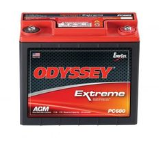 ODYSSEY Batteries Powersports Battery features a rugged construction built to take the constant pounding that comes with the territory whether that territory is on land sea or snow. The ODYSSEY ba. Tractor Battery, Lead Acid Battery, Old Cars, Arcade, Iphone 6, Money, Metals, Lawn, Objects