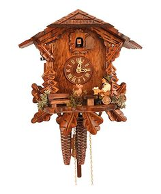 Beer Drinker Weight-Driven Chalet Cuckoo Clock