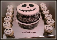 Jack Skellington Cake and Cupcakes