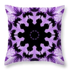 Sunflower Kaleidoscope In Purple Throw Pillow for Sale by Aimee L Maher Photography and Art Visit ALMGallerydotcom