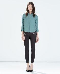 ZARA - WOMAN - SUPER STRETCH SKINNY TROUSERS