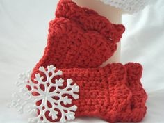 Fingerless Gloves for Girls with Ruffles Fingerless Mittens Gloves Red Mittens Ruffles Christmas Mittens Winter Accessories on Etsy, $18.99