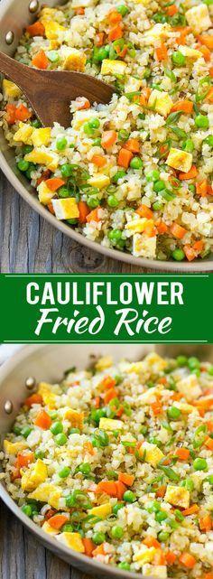 Cauliflower Fried Rice   Cauliflower Rice   Low Carb Rice   Cauliflower Rice Recipe   Cauliflower Recipes