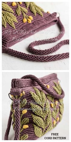 Stitch Crochet, Crochet Yarn, Crochet Stitches, Free Crochet, Crochet Purse Patterns, Bag Patterns To Sew, Crochet Purses, Crochet Animal Hats, Zipper Pouch Tutorial