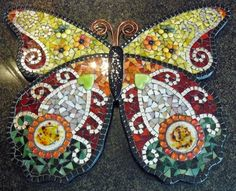 Mosaic Butterfly by Glasshoppers https://www.facebook.com/glasshoppers.stained.glass