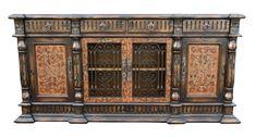 Rustic Italian Home Tuscan Furniture, Modern Rustic Furniture, Modern Rustic Homes, Handmade Furniture, Unique Furniture, Luxury Furniture, Wood Buffet, Painted Buffet, Hand Painted Furniture