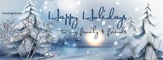 Happy Holidays to My Family and Friends Facebook Cover CoverLayout.com