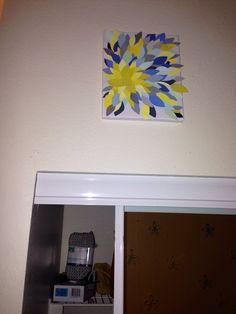 Dorm room DIY wall art paint chips