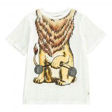 Camiseta Lion Chuckle Blanco