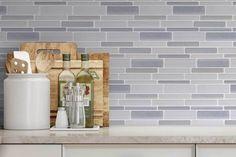 Beautiful Kitchen Backsplash: Peel N' Stick, Peel and Stick, Guaranteed to Stick! Peel N Stick Backsplash, Peel And Stick Tile, Kitchen Backsplash, Resin Material, Grey Stone, Modern Colors, Blue Tones, Interior Walls, Beautiful Kitchens