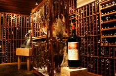 Combined cellar and charcuterie room