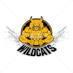 Mascot Clipart Image of A Wildcat With Strong Muscles 8d60d6a061fce