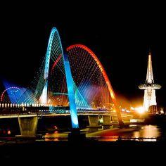Expo Bridge at Daejeon, Korea South Korea Seoul, South Korea Travel, Daejeon, Places Ive Been, Places To Visit, Korean Peninsula, Learn Korean, Holiday Travel, Where To Go