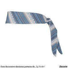 Cute decorative ukrainian patterns design tie headband Tie Headband, All Print, Pattern Design, Art Pieces, Patterns, Sewing, Cute, Fabric, Prints