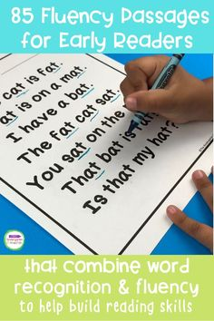 As kids learn letters, sounds, phonics patterns, and sight words, they really start to unlock reading. This pack of 85 Fluency Passages for early readers combines word recognition and fluency to build up your early readers' skills! This is a great word families literacy activity for Pre-K and Kindergarten! Kindergarten Reading Activities, Literacy Activities, Learning Letters, Kids Learning, Early Readers, Literacy Skills, Word Families, Great Words, Reading Skills