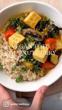 Curried Tofu Recipe, Healthy Curry Recipe, Healthy Vegetable Recipes, Curry Recipes, Tofu Curry, Vegetarian Lunch, Vegetarian Recipes, Cooking Recipes, Recipes