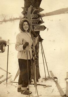 Vintage Ski Photo - Quebec, Canada