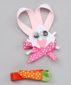 Look what I found on #zulily! Easter Bunny & Carrot Clip by Hair Flair #zulilyfinds