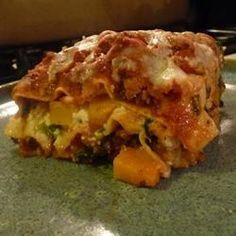 "Turkey Lasagna with Butternut Squash, Zucchini, and Spinach | ""Absolutely amazing! Made it for my family dinner, hoping it would be any good.... And we stuffed ourselves! We couldn't get enough! """