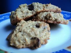 Banana Cookies with Chocolate Chips and Walnuts   With the oats in them too you could almost call them breakfast.