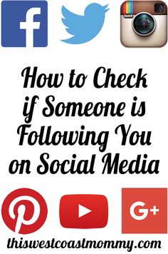 How to Check if Someone is Following You on Social Media - This West Coast Mommy Social Media Etiquette, Social Media Tips, Social Media Marketing, Digital Marketing, Selling Crafts Online, Craft Online, Free Followers, Blog Tips, West Coast
