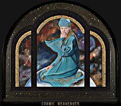 Cosmic Messenger (framed original) by Merglenn Studios Soft Pastel ~  x