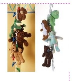 10 Extra Clips for Chain Gang Toy Organizer - White Fantastic way to organize toys, hats, stuffed animals and anything else that can hang! Organizing Stuffed Animals, Stuffed Animal Storage, Diy Stuffed Animals, Stuffed Toys, Kid Toy Storage, Storage Racks, Hanging Storage, Extra Storage, Pet Organization