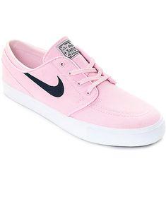 Nike SB Janoski Prism Pink   Navy Canvas Skate Shoes cbdaf4790e1