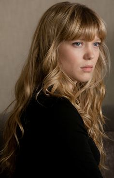 Lea Seydoux - blonde bangs, wavy curls, gorgeous