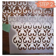 How To Stencil Wood Furniture With Chalk Paint Decorative Revivals Painting Our Moorish Fleur De Lis Is A Perfect