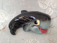 Vintage Kitsch Marineland Pacific Bubbles the Whale Bank EW Japan