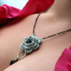 crocheted necklace | Flickr - Photo Sharing!