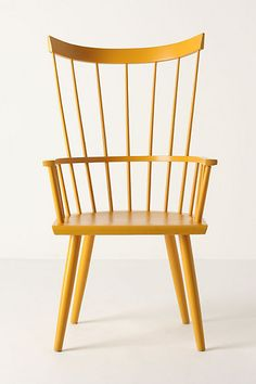 Dalloway Armchair #anthropologie. I love New England style this makes me think of a modern take on a classic windsor.