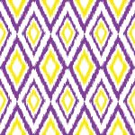 Diamond Ikat Purple, Yellow & White