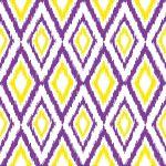 Diamond Ikat Purple, Yellow & White